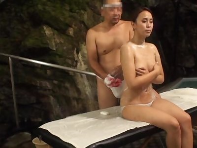 Oiled up Kazane Maika takes a stiff cock yon her delicious pussy