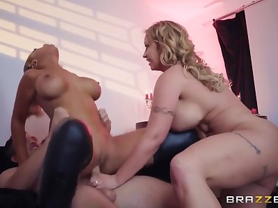 Eva Notty Increased by Bridgette B - Two Plumpers Joshing Lucky Dude With Their Juicy Bodies