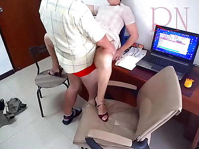 Hidden camera in office. Secretary fucks with regard to her boss. Boss cum on the slut's ass. Streetwalker is accessible to fuck for a salary.