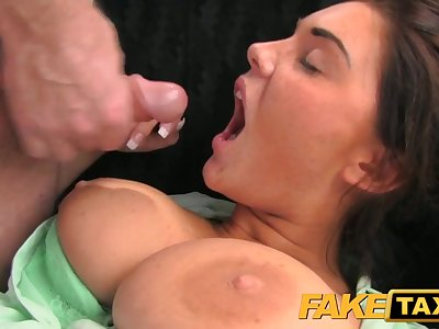 FakeTaxi: Excited juvenile swingers in taxi cab 3some