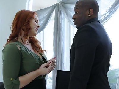 Breathtaking redhead Edyn Blair desires come of age some delight alien interracial sex
