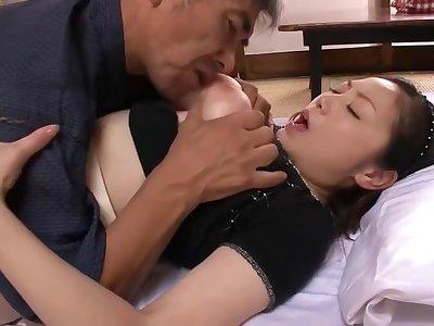 Order about Japanese Mature fucks 2 men