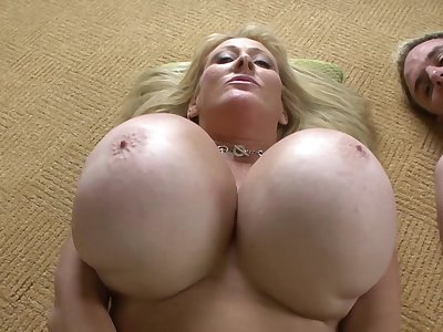 Super busty and curvy blonde mom Charterhouse Lane in anal action with cumshot