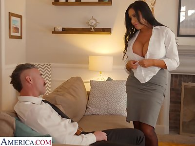 Whore wife surrounding king scope bowels Sybil Stallone is cheating above her husband surrounding his boss