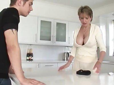 Shameless Mature Stepmom cant get enough for her Stepson
