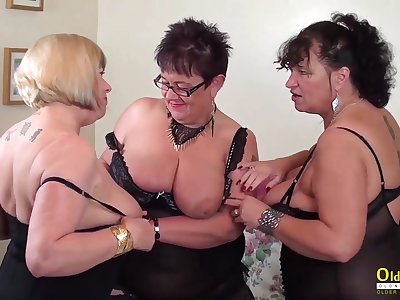 Busty mature BBWs are ready for some steamy group sex