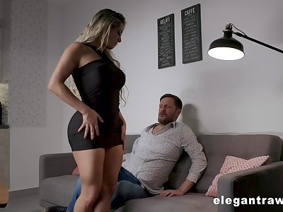 Overshadow thighed MILF with huge tits and fat ass having sex inspection a romantic date