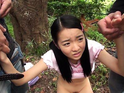 Grown up asian blowjob handjob voyeur in section