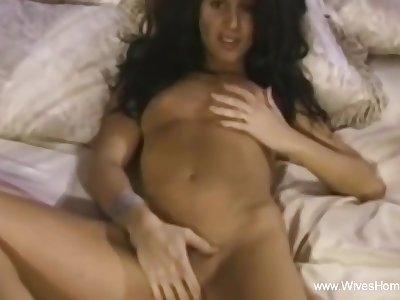 Skeletal Wife Masturbating Handy Lodging And Fingering Moment