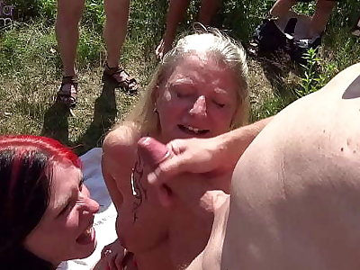 Mom and stepdaughter were dirty used by countless living souls handy a bathing lake! Part 4