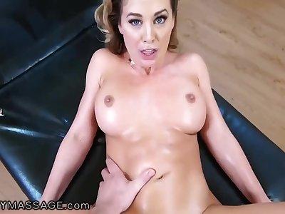POV Hardcore Massage Hot MILF Cherie DeVille Rides Sham Son's BFFs Cock POV - Pornstar
